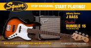 SQUIER Jazz Bass Affinity Set RW BSB + Rumble 15
