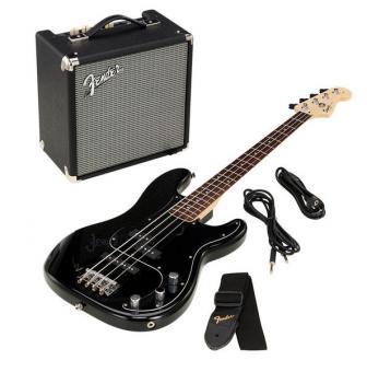 SQUIER PJ-Bass Affinity Set Black+Fender Rumble 15