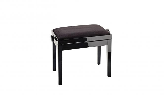K&M Klavierbank 13701-000-21 BK poliert/Kunstleder BK